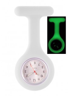 Silicone Nurses Fob Watch Glow White