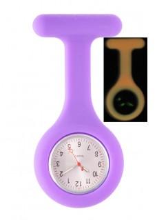 Silicone Nurses Fob Watch Glow Purple