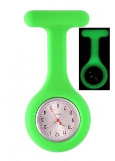 Silicone Nurses Fob Watch Glow Green
