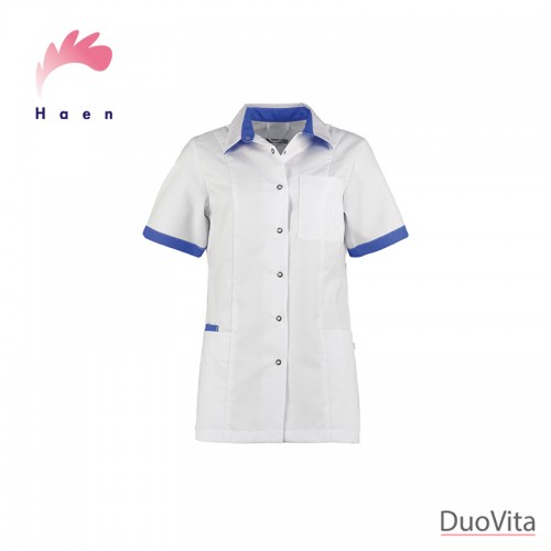 Haen Nurse Uniform Fijke White/Royal Blue