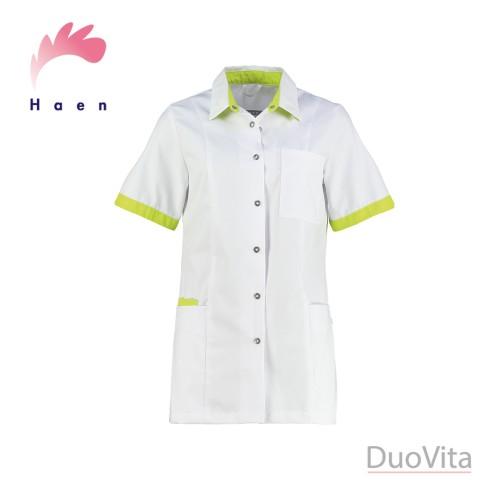 Haen Nurse Uniform Fijke White/Sulfur Yellow