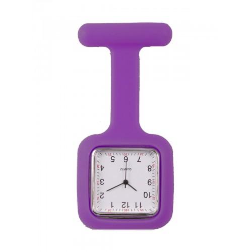 Silicone Square Fob Watch Purple