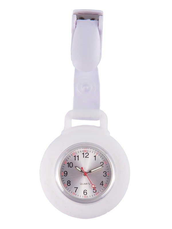 Silicone Nurses Fob Watch Clip White By Nurseoclock For
