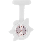 Silicone Spring Flower Fob Watch White