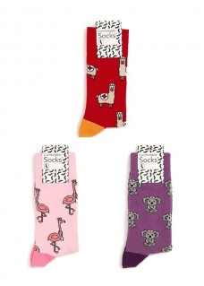 Nurse Womens Socks Set Animals