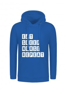 Hoody Eat Sleep Nurse Repeat Blue