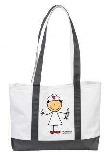 Large Canvas Tote Bag Stick Nurse