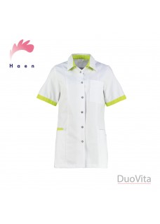 Haen Nurse Uniform Fijke White/Sulfur Yellow