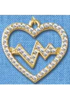 Heartbeat Gold Pendant(Large)
