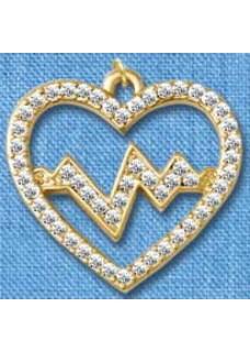 Heartbeat Gold Pendant(Large)