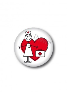 Button Stick Nurse Heart