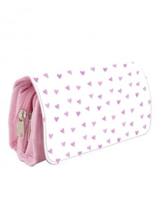 Instruments Case Pink Hearts Pink