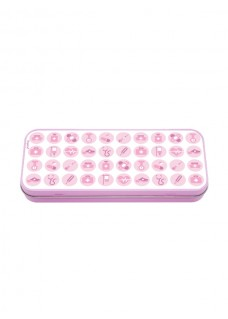 Metal Stationary Case Medical Symbols Pink