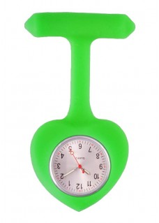 Silicone Heart Nurse Fob Watch Lime Green