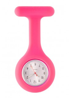 Silicone Nurses Fob Watch Standard Pink