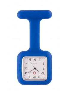 Silicone Square Fob Watch Dark Blue