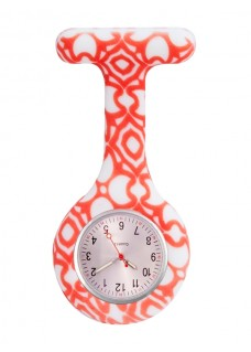 Nurses Fob Watch Aztec Red