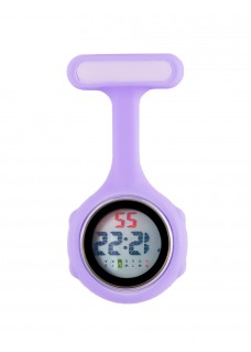 Digital Nurses Fob Watch Lilac
