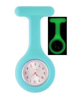 Silicone Nurses Fob Watch Glow Blue