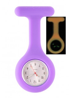 Silicone Nurses Fob Watch Glow Purple