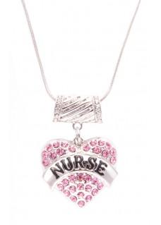 Necklace Nurse Pink Heart