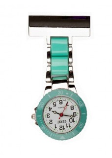 Nurses Fob Watch Silver Mint