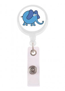 Retracteze ID Holder Elephant Blue