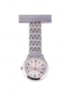 Elegant Fob Watch Silver