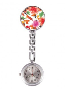 Fob Watch Asian Flowers