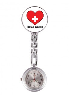 Fob Watch Red Heart