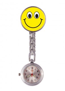 Fob Watch Smiley Yellow