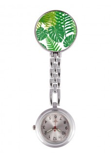 Fob Watch Tropical Leaves