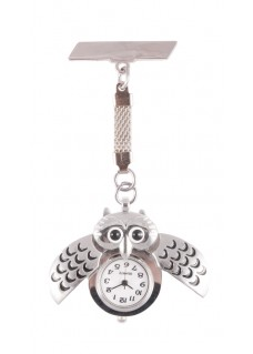 Owl Silver Fob Watch