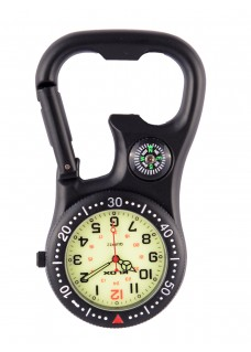 Carabiner Clip Watch NOC463 Stealth Black