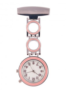 Nurses Fob Watch Bubble Pink