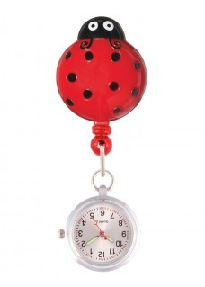 Retracteze Fob Watch Lady Bug