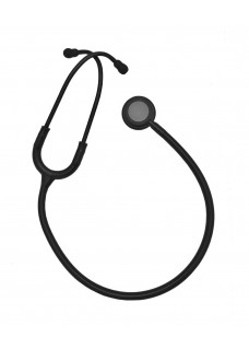 Hospitrix Stethoscope Professional Line Stealth Edition Black