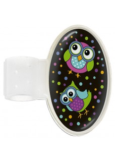 Stethoscope ID Tag Owl Black Party