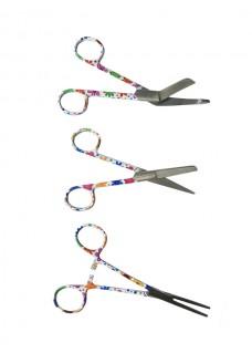 Scissors Set Stitched Flowers