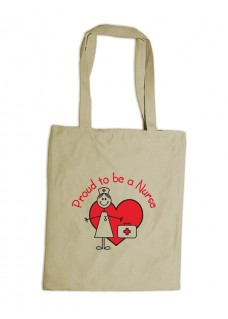 Reusable Tote Bag Stick Nurse