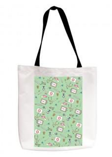 Tote Bag Medical Symbols Green