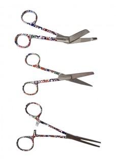 Scissors Set Retro Circles