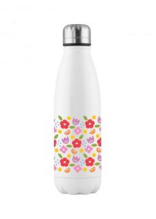Drink Bottle Vintage Flowers
