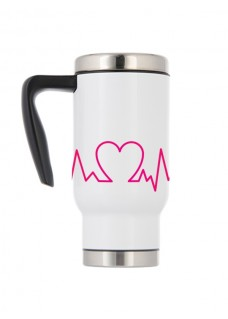 Thermo Travel Mug Heartbeat