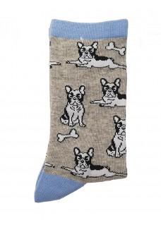 Happy Womens Socks Bulldog