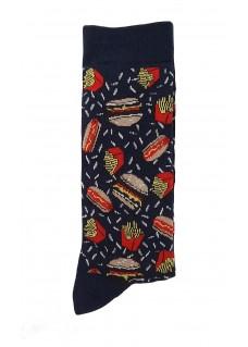 Happy Womens Socks Fast Food