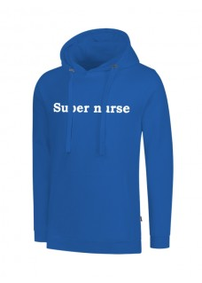 Hoodie Super Nurse Blue