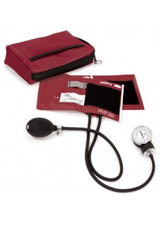 Premium Aneroid Sphygmomanometer with Carry Case Burgundy