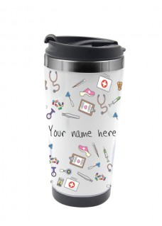 Thermo Travel Mug Medical Symbols
