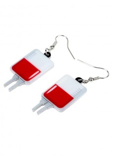 Earrings IV Blood Bag